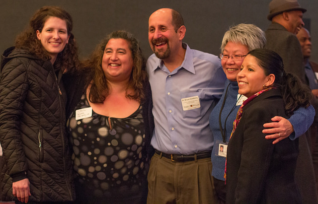 Bruce Goldberg with community members at the 2014 Office of Equity and Inclusion annual event.