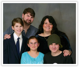 Photo of Channon Baker and family