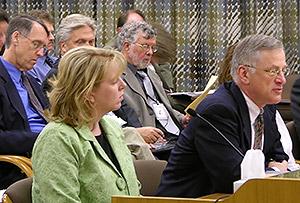 Jim Scherzinger testifies to the E-Board