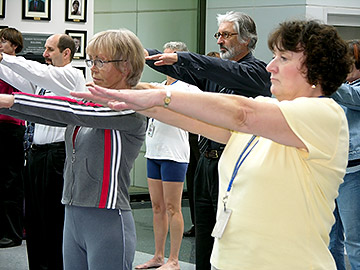 DHS employees learn Tai Chi movements