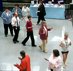 DHS employees learn Tai Chi